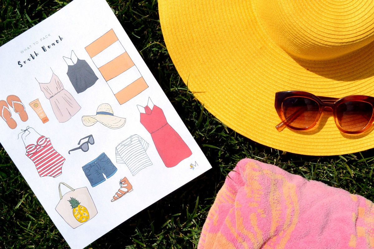 what-to-pack-an-illustrated-packing-list-for-a-weekend-in-south-beach