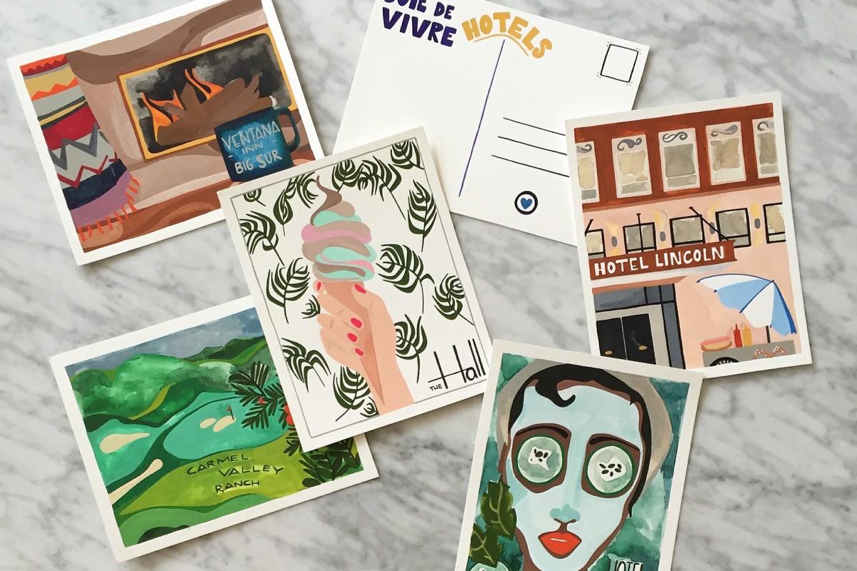 joie-de-vivre-signature-postcards