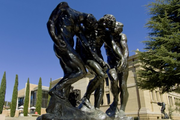 Auguste Rodin, The Three Shades, 1881-83 and 1901-02. Bronze, cast 1980. Gift of the B. Gerald Cantor Collection, Cantor Arts Center at Stanford University. Photo by Jim Gasperini