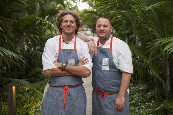Spike Mendelsohn, left, and Michael Colletti (exec chef)