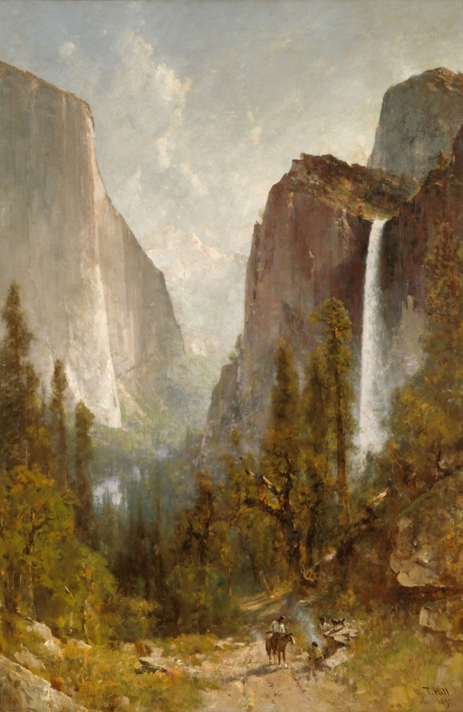 Thomas Hill (U.S.A., b. England, 1829–1908), Bridal Veil Falls, Yosemite Valley, 1892. Oil on canvas. Oakland Museum of California, Gift of Mrs. Leon Bocqueraz