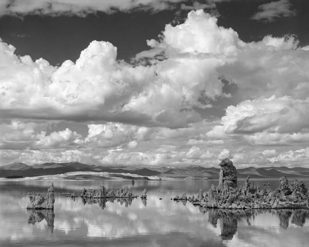 Joseph Holmes (U.S.A., b. 1952), Clouds over Mono Lake, 1975. Gelatin silver print, printed 1981. Collection of the Oakland Museum of California, The Shirley Burden Fund for Photography