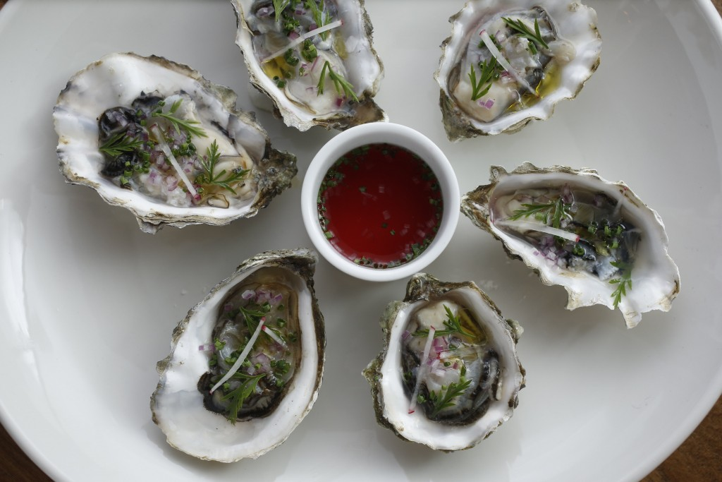 The Oxford in Sunnyvale, CA on Sunday May 1, 2016. Photo of raw oysters.