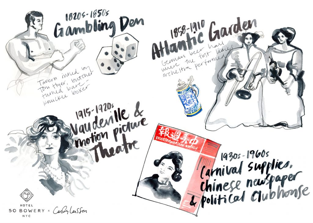 new york history 50 bowery