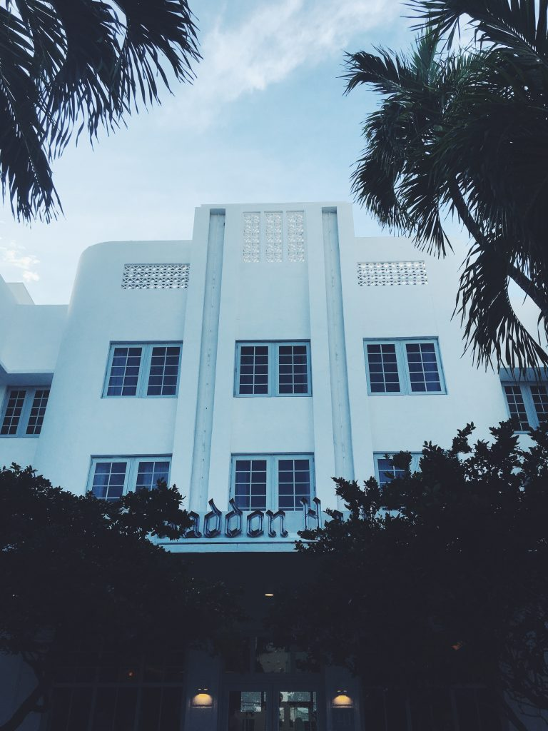 the hall south beach art deco facade