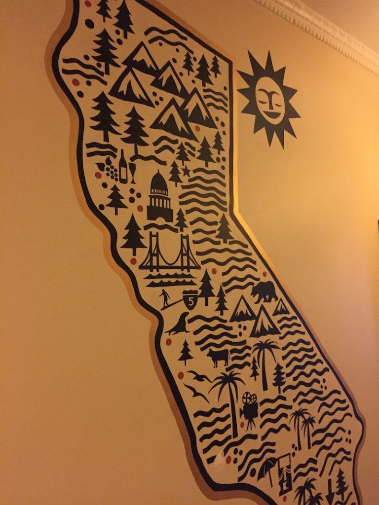 Mural California Artist Hotel Carlton