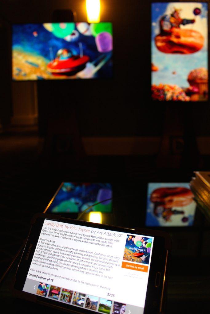 Daylighted digital art display Galleria Park Hotel