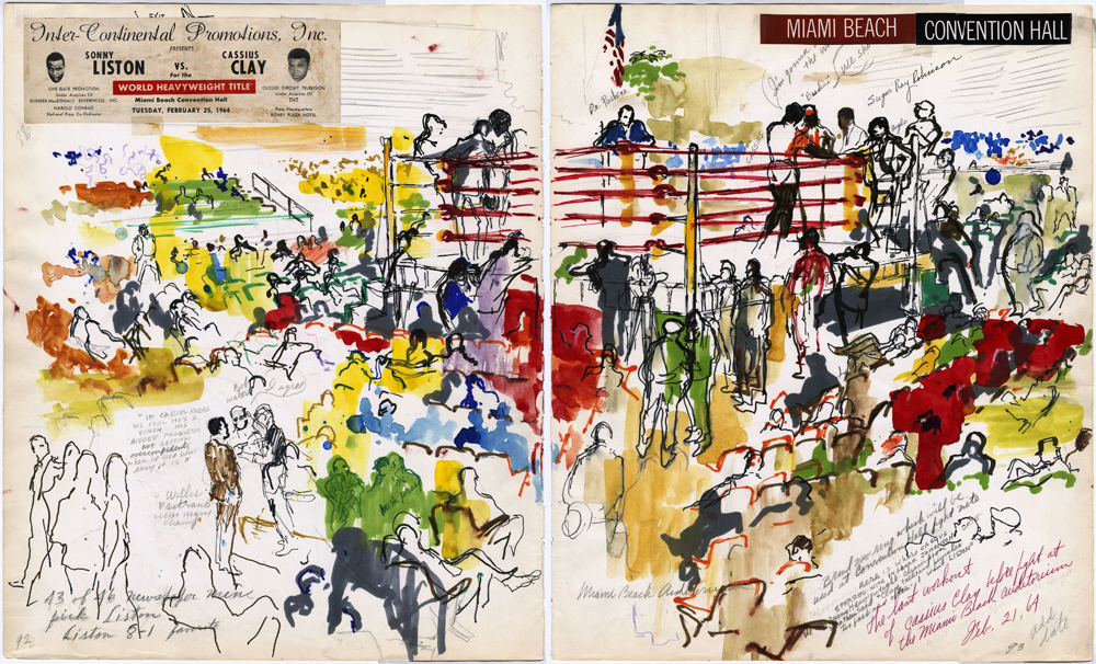 NYC GALLERY Muhammad Ali, Leroy Neiman, and the Art of Boxing Exhibit