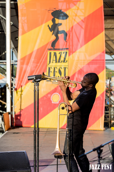 performs during the New Orleans Jazz & Heritage Festival 2013
