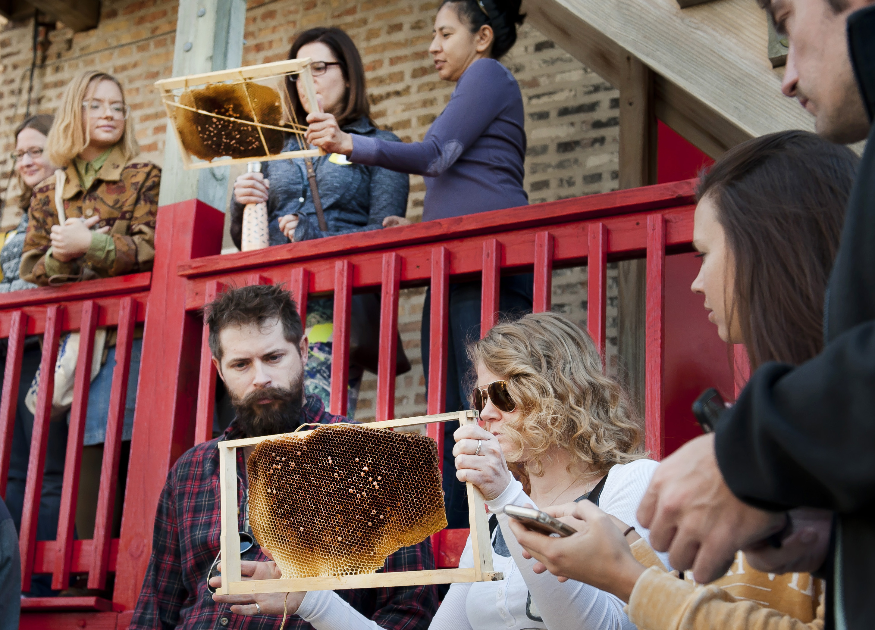 CHICAGO, IL- OCTOBER 23 : CIW participants learn about Beekeeping and equipment during a lab for CIW. The Hive is a Chicago Beekeeping Supply store affiliated with the Westside Bee Boyz located at 3414 W. Roosevelt Rd. (Photo by Tamara Bell/Chicago Ideas Week)
