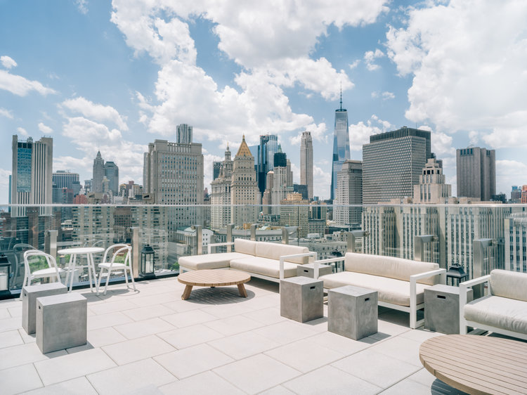 NYC Rooftop Bar from Downtown